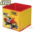 Lego Кутия за съхранение Fire yellow
