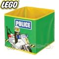 Lego Кутия за съхранение Police green