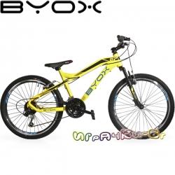 """Byox Bikes Велосипед със скорости 24"""" B7 Yellow"""