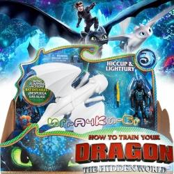 Dragons The Hidden World Дракон и ездач Светъл Бяс и Хълцук 6045112