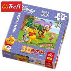 Winnie The Pooh Пъзел 3D Пух в дъжда 120ч.Trefl