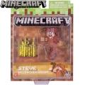 Minecraft Базова фигурка Steve In Leather Armor 16484