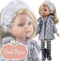 Paola Reina Дизайнерска кукла Клаудия със зимни рокля и палто 04410