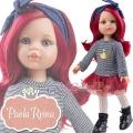Paola Reina Дизайнерска кукла Даша с ефектна рокля и червена коса 04513