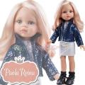 Paola Reina Дизайнерска кукла Нора с модерни блестящи пола и сако 04514