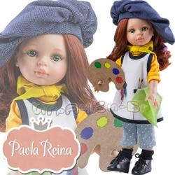 Paola Reina Дизайнерска кукла Кристин Художничка с палитра 04652