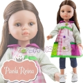 Paola Reina Дизайнерска кукла Карол с туника пачуърк 04653