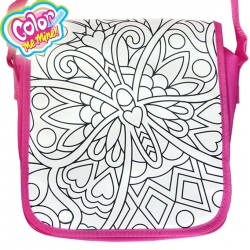 Color Me Mine Чанта за оцветяване Messenger Bag Love Butterfly