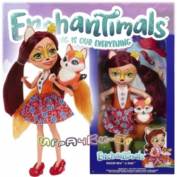 Enchantimals Huggable Cuties Голяма кукла Felicity Fox 30см с лисиче FRH51