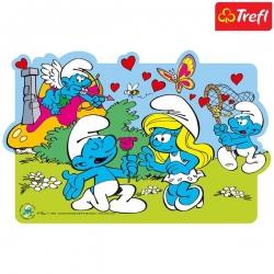 Trefl Пъзел за оцветяване Смърфове 30ч. 14168