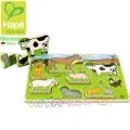 Детски дървен пъзел Ферма Hape H1450