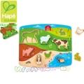 Дървен пъзел Домашни животни Hape H1454