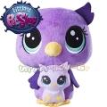 Littlest Pet Shop Плюшено животинче с малко - Lilac и Owlette Nocturna C0169