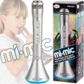 Mi-Mic Караоке Микрофон с Bluetooth и LED светлини Silver TY5899SV