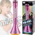 Mi-Mic Караоке Микрофон с Bluetooth и LED светлини Pink TY5899PK