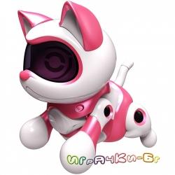 TEKSTA Интерактивно Kотенце - Робот Mini Jumping Kitty Pink