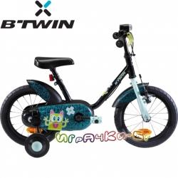 B'TWIN Детски велосипед 14'' Monster Black 8402832