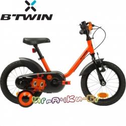 B'TWIN Детски велосипед 14'' Robot Black 8371301