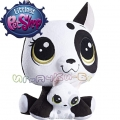 Littlest Pet Shop Плюшено животинче с малко - Bullena и Scamper Doghouser C0165