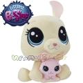 Littlest Pet Shop Плюшено животинче с малко - Vanilla и Bijou Velvetears C0168