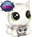 Littlest Pet Shop Плюшено животинче с малко - Tabsy и Holiday Felino C0166