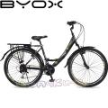Велосипед със скорости City 26 Byox Black