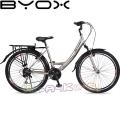 Велосипед със скорости City 26 Byox Grey