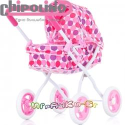 Chipolino Количка за кукли Лора Pink KZKLO02001PI