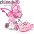 Chipolino Количка за кукли Нели Pink KZKNE02001PI