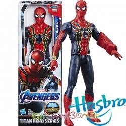 Marvel Avengers Titan Hero Екшън фигура Iron Spider с Power FX порт E3844