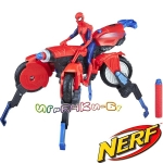 Hasbro Nerf SpiderMan Екшън фигура Спайдърмен с мотор 3 в 1 E0593
