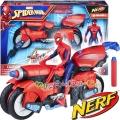 Hasbro Nerf SpiderMan Екшън фигура Спайдърмен с мотор 3 в 1 E0593