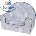 Bubaba Детски фотьойл Сива джунгла