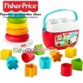 Fisher Price Играчка с формички/сортер и пирамида с рингове GRF11