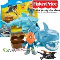 Fisher Price Imaginext Акула и превозно средство,Treasure GKG78