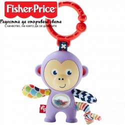 Fisher Price Дрънкалка маймунка в лилаво FWF49