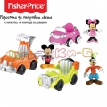 Fisher Price - Фигурка с кола Mickey Mouse