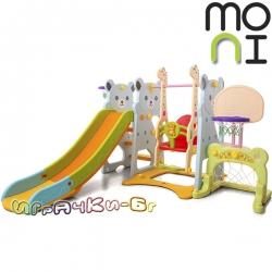 Moni Пързалка,баскетболен кош и люлка Garden Bear 18004