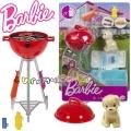 Barbie Мебели за кукла Барби - барбекю с домашен любимец GRG76