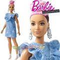 Barbie Fashionistas Кукла Барби Curvy with Pink Updo FJF55 Doll#95