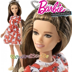 Barbie Fashionistas Кукла Барби Petite with Brunette Waves FJF57 Doll#97