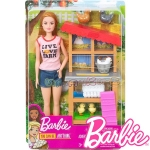 Barbie Careers Кукла Барби фермерка с кокошки FXP15