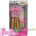 Barbie Пола и тениска с аксесоари за кукла Барби FND47