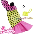 Barbie Рокля на точки с аксесоари за кукла Барби FND47