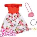 Barbie Рокля Roses с аксесоари за кукла Барби FND47