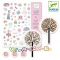 Djeco - Комплект с 1000 броя стикери за момиченце DJ08951