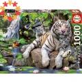 Educa Пъзел Бенгалски бели тигри 1000 елемента 14808