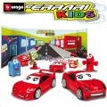 Bburago - Игрален комплект с 3 броя колички Ferrari Kids 18-3127