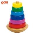 Goki - Дървена кула 58925 с цветни рингове