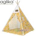 Aglika Детска палатка за игра Типи Лами жълти